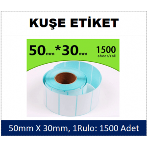 DKY Kuşe Etiket 50x30mm (1 Rulo:1500 Adet)