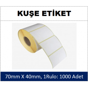 DKY Kuşe Etiket 70x40mm (1 Rulo:1000 Adet)