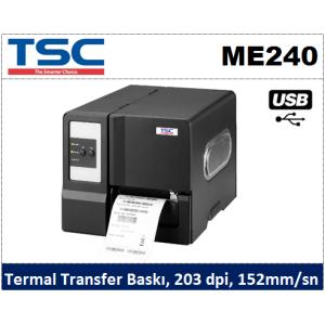 TSC ME240 Endüstriyel T.Transfer Barkod Yazıcı