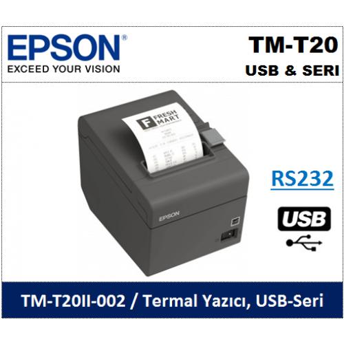 Epson TM-T20 USB & Seri Termal Fiş Yazıcı
