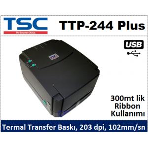 TSC TTP-244 PLUS Termal Transfer Barkod Yazıcı